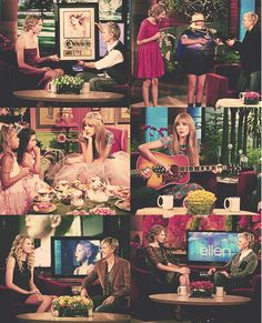 I love when Taylor Swift is on Ellen! :)  @Ellen DeGeneres please give her a HUGE hug for me next time she's on, cause I would never be lucky enough to do it myself :(