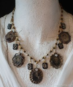 A2524 Sold [A2524] - $285.00 : Kay Adams, Anthill Antiques, Jewelry and Chandelier Heaven. Antique Acrostic Regard Necklace. Antique Picture jewelry. Antique Photo Jewelry. Hauntingly Beautiful. Tintype,  Melainotype, Ferrotype, Ambrotype,  Collodion Positive,  Daguerreotype #gottagettakay