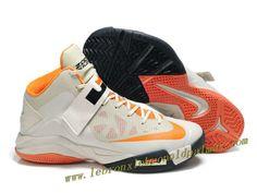 Nike Lebron Zoom Soldier VI Shoes Gray Orange