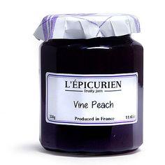 L'Epicurien Vine Peach - Blood Peach French Jam - 11.65 oz