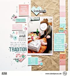 Scrapbooking Layout mit dem Februarkit | von Alena für www.danipeuss.de #danipeuss #scrapbooking #memorykeeping #papercrafting #basteln Project Life, Hey Girl, Scrapbooking Layouts, Fun Nails, Memories, Traditional, Inspiration, Create, How To Make