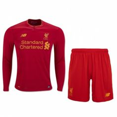 150c36478 £19.99 Liverpool Kids Home Kit Long Sleeve 2016 2017 Football Shirts