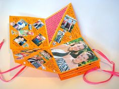 Mini scrapbooks. So much fun. For a weekend getaway! Or maybe A memory of friends from college.  Originally from C.R.A.F.T.