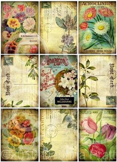 Digital Collage sheet / printable vintage by LandofEnchantment. $3.98, via Etsy.