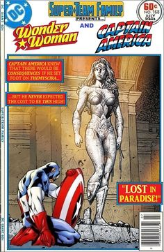 Super-Team Family: The Lost Issues!: Wonder Woman and Captain America: Lost in Paradise!
