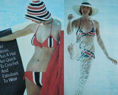 PDF Instant Download 2 pattern Bathing suit by GrandmaHadItGoinOn, $1.38 #bikini #knitting #pattern #crochet #swimwear