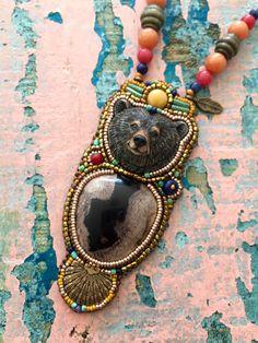 Een persoonlijke favoriet uit mijn Etsy shop https://www.etsy.com/nl/listing/477680517/bear-totem-necklace