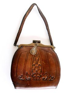 Antique Vintage Signed JEMCO Tooled Leather by TheAntiqueFreak, $110.00