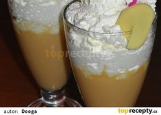 Melounové smoothie se zázvorem a limetkou Smoothie, Pudding, Desserts, Food, Tailgate Desserts, Deserts, Custard Pudding, Essen, Smoothies