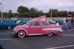 Volks Chevy.....best of both worlds there!!!! Except the roof fin