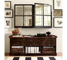 Mirror Wall-Mount Media Solution : decorative solution to hiding the tv when not in use. LOVE THIS
