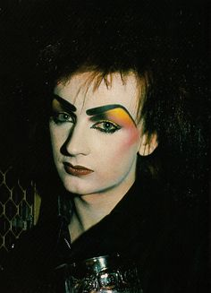 One of the best of his looks!!!  boy/george/new/romantic/80s - Google Search
