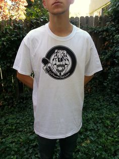 Black And White Screen Print TShirt by CounterFitCulture on Etsy