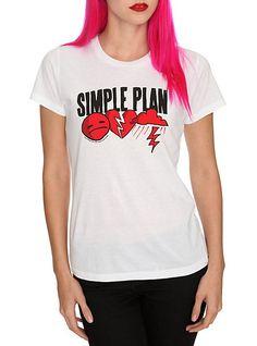 Simple Plan Sad Icons Girls T-Shirt | Hot Topic