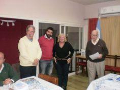 Toma de compromiso al nuevo socio Ing. Lucas Claudio Acevedo con , Lucas Claudio Acevedo, Silvia Nobile y Kelo Jutoran.