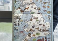 """""""Maps"""" by Aleksandra Mizielińska and Daniel Mizieliński.  A celebration of the world, from its immense mountains to its tiny insects – and everything in between. Features fifty-two highly illustrated maps, full of detail and curiosities."""