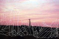 line drawings on photographs