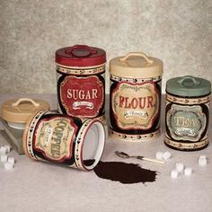 Genial Canister Sets Kitchen On Country Store Canister Set