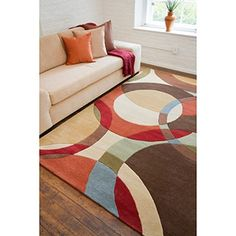 Shop for Hand-tufted Contemporary Multi Colored Circles Mayflower Wool Geometric Rug. Get free shipping at Overstock.com - Your Online Home Decor Outlet Store! Get 5% in rewards with Club O! - 13291201