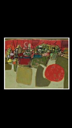 """Corneille - """"Vol d'oiseaux au milieu du jour"""", 1959 - Huile sur toile - 65 x 81 cm (*)"""