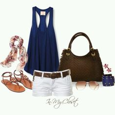 Fashionista Trends - Part 293 Short Outfits, Casual Outfits, Cute Outfits, Spring Summer Fashion, Spring Outfits, Spring Girl, Outfit Summer, Summer Shorts, Summer Wear