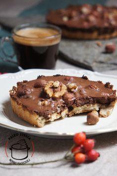 paleo tartaletki czekoladowo-orzechowe Healthy Sweets, French Toast, Paleo, Vegan, Breakfast, Food, Morning Coffee, Clean Eating Sweets, Meals