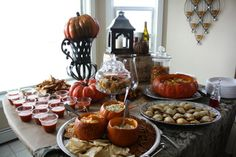 a fall-themed baby shower