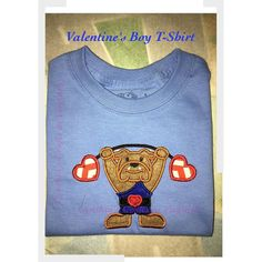 Valentine's Boy Tshirt #valentines #valentineday #cynthiascraftsinvirginia #embroidered #embroideredbabygifts #personalized #personalization #valentinesbaby #custommade #yesbbb  #rabbitskin #carters #hearts #cute #love