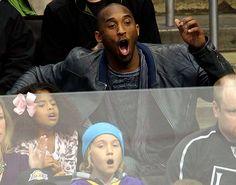 Kobe watching the Kings.