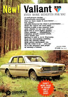 Retro Cars, Vintage Cars, Chrysler Valiant, Plymouth Valiant, Aussie Muscle Cars, Australian Cars, Car Brochure, Sports Sedan, Car Advertising