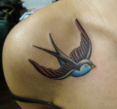 sparrow tattoos - love the colors!