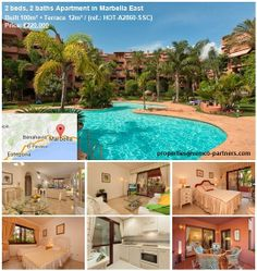 2 beds, 2 baths Apartment in Marbella East Located on a beachfront gated community, this fully furnished ground floor apartment is South-facing and overlooking the pool and gardens, offers spacious and light rooms and has both covered and open terraces. This apartment in the highest standard offers secure parking and storeroom and benefits from a 24-hour concierge. The community gates lead directly onto the long sandy beach and Marbella is just a 5-minute drive.properties@remco-partners.com Concierge, Gated Community, Terraces, Ground Floor, Gates, Beds, Rooms, Mansions, Luxury