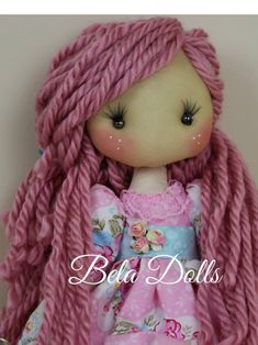 Romantic Soft Doll with pink dress-Unique Handmade Doll-Fabric Doll-Special Rag Doll Amazing Decor, Soft Dolls, Unique Dresses, Fabric Dolls, Pink Dress, Curly Hair Styles, Cotton Fabric, Diy Projects, Romantic