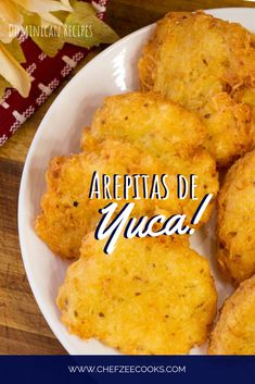Arepitas de Yuca are Dominican Yuca Fritters that super easy to make yet amazingly delicious! Boricua Recipes, Comida Boricua, Mexican Food Recipes, Carribean Food, Caribbean Recipes, Comida Latina, Spanish Dishes, Spanish Food, Vegetarian