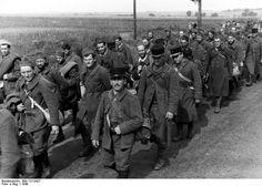 Prisioneros franceses. 1940