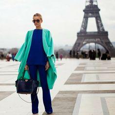 Moda de Rua: Azul com Verde - Streetstyle: Blue and Green