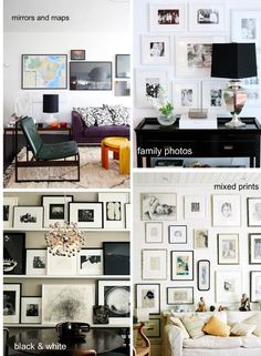 inspiration for that bare wall in my living room.