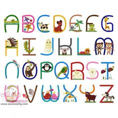 Animals Embroidery Font Full Set Machine Embroidery Design For Kids. Check Out Our Beautiful Embroidery Fonts, BX Format Available For Embrilliance Users.