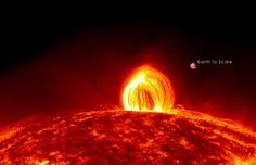On July 19th, 2012, NASA's Solar Dynamics Observatory witnessed a medium sized flare accompanied by a enormous magnetic loop of superheated plasma emanating from the surface.