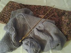 I was knitting and watching Olympic games Sotchi14