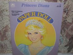 1985 VTG PRINCESS DIANA PAPER DOLL BOOK UNCUT GOLDEN BOOK ENGLISH ROYALTY