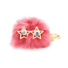 Sophie Hulme - mytheresa.com exclusive Large Pom Pom keyring - Hankering for a dose of eccentric cool? Look no further than this large raspberry-hued sheepskin 'Pom Pom' ring from Sophie Hulme. Complete with its own striking eyes, star-shaped glasses and gold-tone hardware, it's a fun way to update your classic black tote. seen @ www.mytheresa.com