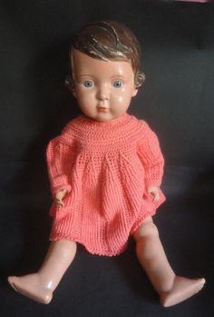 Alte Schildkröt Puppe gemarkt Schildkröt in Raute 64 leicht beschädigt | eBay