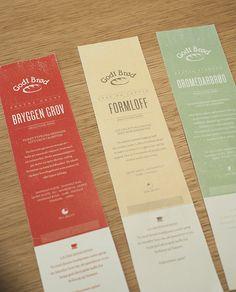 Godt Brød by Karen Vaksdal Madsen, via Behance Bakery Branding, Personalized Items, Books, Kiss, Behance, Sweets, Cakes, Design, Libros