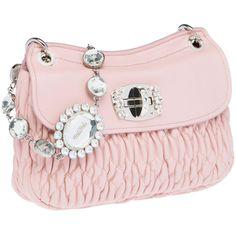 Miu Miu Clutch (405 KWD) ❤ liked on Polyvore featuring bags, handbags, clutches, purses, miu miu, shoulder strap purses, pink purse, hand bags, zip purse and zipper purse