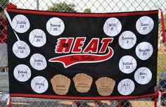 Large Custom Felt Team Banner - Multi-Season