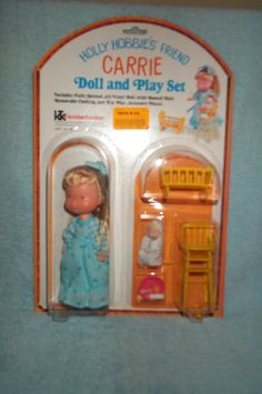 Holly Hobbie Doll and Play Set Carrie Blue Outfit Vintage TWT | eBay