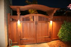 Pergola Attached To House Refferal: 5940508143 Wood Fence Gates, Wooden Garden Gate, Fence Gate Design, Garden Gates And Fencing, Privacy Fence Designs, Yard Design, Backyard Gates, Backyard Pergola, Backyard Landscaping