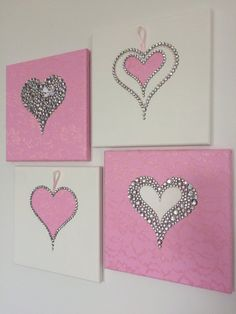how to create valentines day crafts that gets happy 30 « inspiredesign Valentines Day Decorations, Valentine Day Crafts, White Girls Rooms, Little Girl Rooms, Easy Homemade Christmas Gifts, Heart Wall Art, Heart Crafts, Button Art, Art Mural