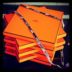 Hermes scarf boxes/ simple box in bold color